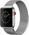 Apple - Apple Watch Series 3 (GPS + Cellular), 42mm Stainless Steel Case with Milanese Loop - Stainless Steel