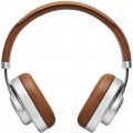 Master & Dynamic - MW65S2 Wireless Noise Canceling Over-the-Ear Headphones - Silver Metal/Brown Leather