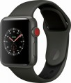 Apple - Apple Watch Edition (GPS + Cellular), 38mm Gray Ceramic Case with Gray/Black Sport Band - Gray Ceramic
