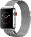 Apple - Apple Watch Series 3 (GPS + Cellular), 38mm Stainless Steel Case with Milanese Loop - Stainless Steel